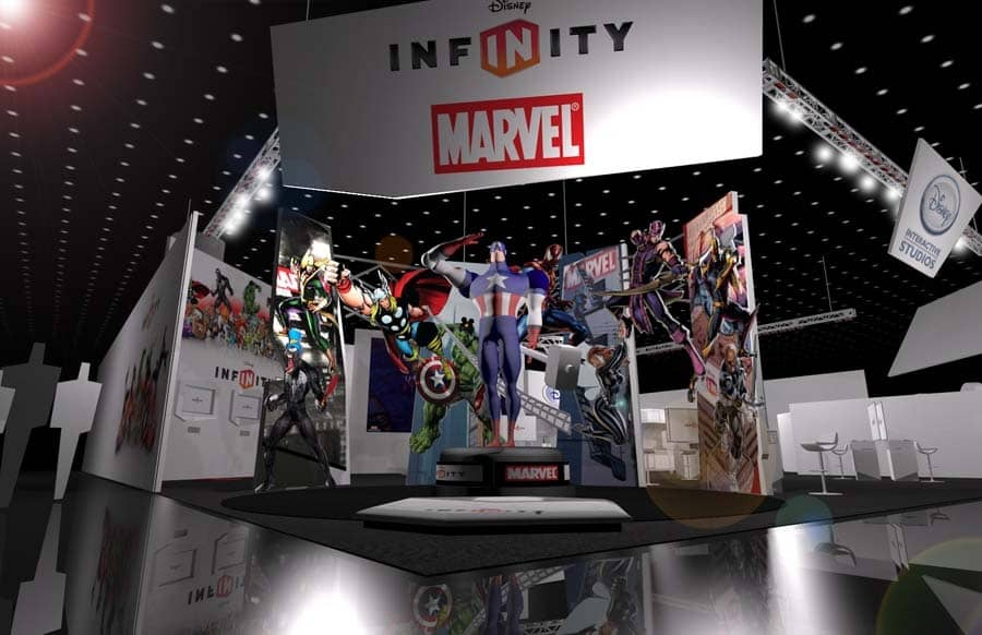 Infinity Collaboration Trade show Booth Marvel