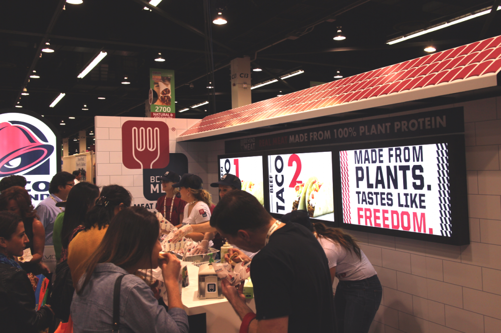Taco Bell BEyond Meat Booth