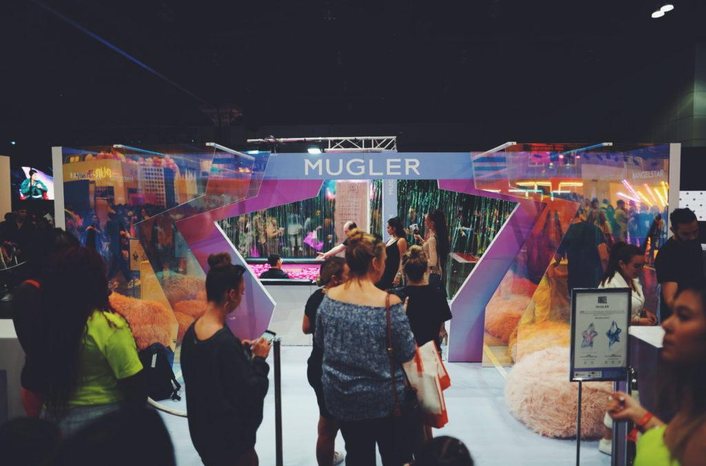 Wide angle Shot of Mugler Tradeshow Booth