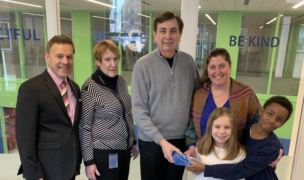 Christmas Fund Luncheon Committee Donates $2,000 of Grocery Cards to Eliot School