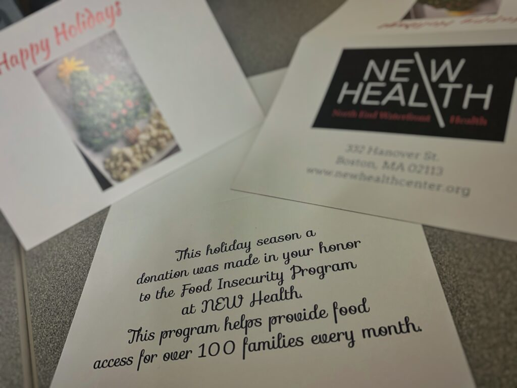 Support NEW Health's Food Insecurity Program this Holiday Season with the Gift of Giving