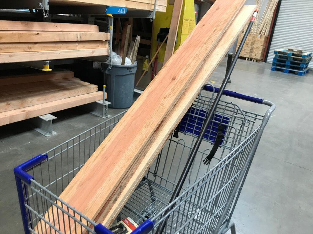 wood shopping