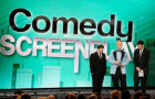 He wins tonight for Best Comedy Screenplay