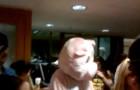 Flash mobbed: A pig dances in Rosengarten