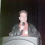 Goldsmith taking the mic