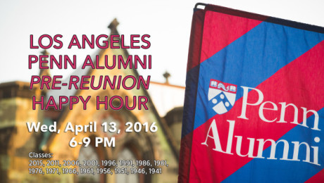 Mingle at our NYC & LA Penn Alumni / Penntertainment Happy Hours
