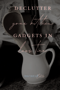 Declutter kitchen gadgets in less time
