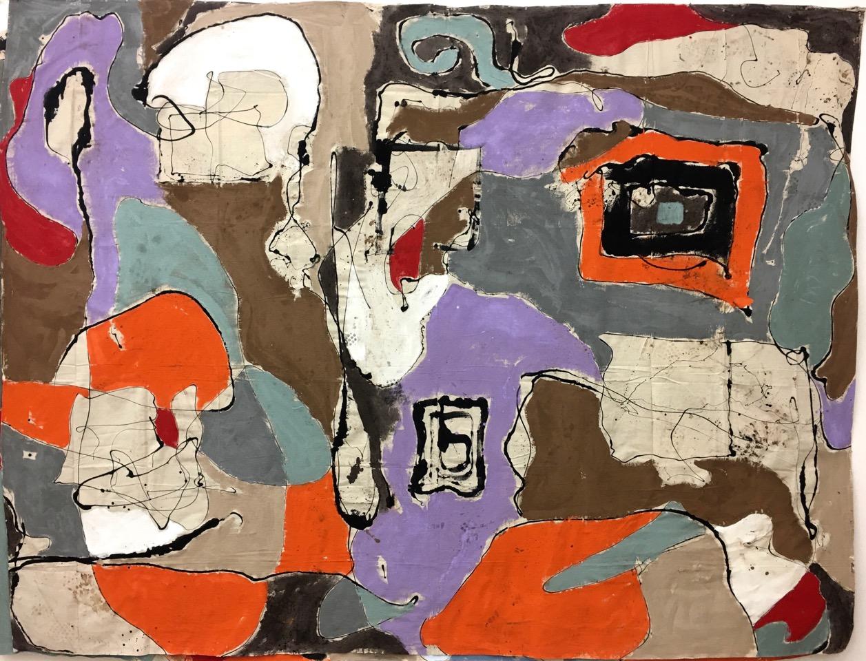 "104"" x 138"" Latex Paint, Walnut Stain on Canvas Drop Cloth 2020"