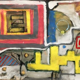 """Market"" 50"" x 90"" Latex on Canvas 2020"