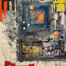 """Peru"" 118"" x 100"" Latex on Canvas 2021"