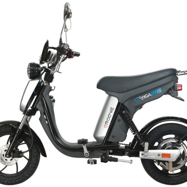 GigaByke Groove - 750W Electric Motorized Bike (Silver)