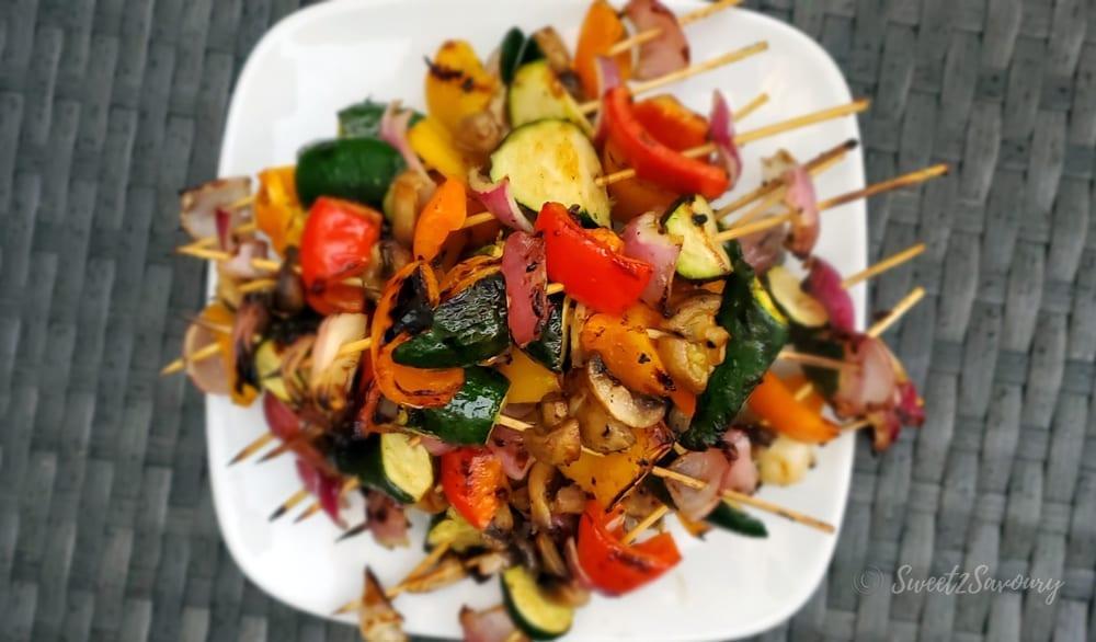 Grilled Marinated Veggie Skewers