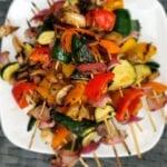 Grilled Marinated Veggies Skewers