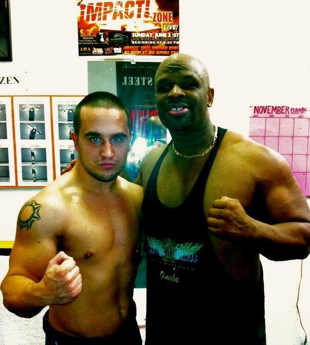 With the trainer Devon Dudley, 2012