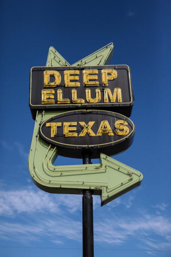 Deep Ellum Texas Neon Sign