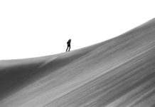 Hiker at Great Sand Dunes National Park