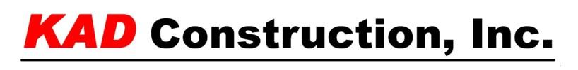 KAD Construction, Inc.  Logo
