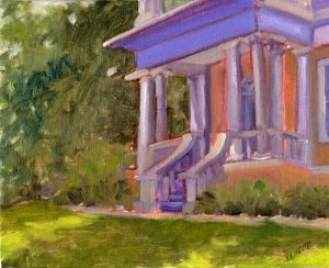 Morning at the Mansion 8X10 Oil $245