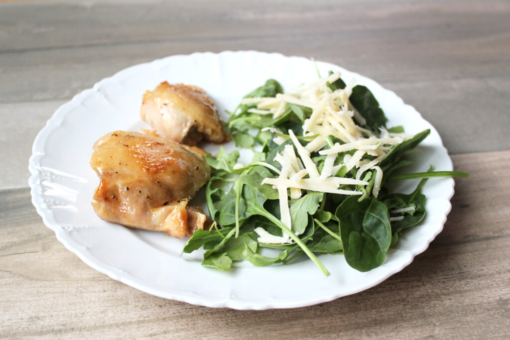 Chicken thighs feature rich flavor and a tender texture.