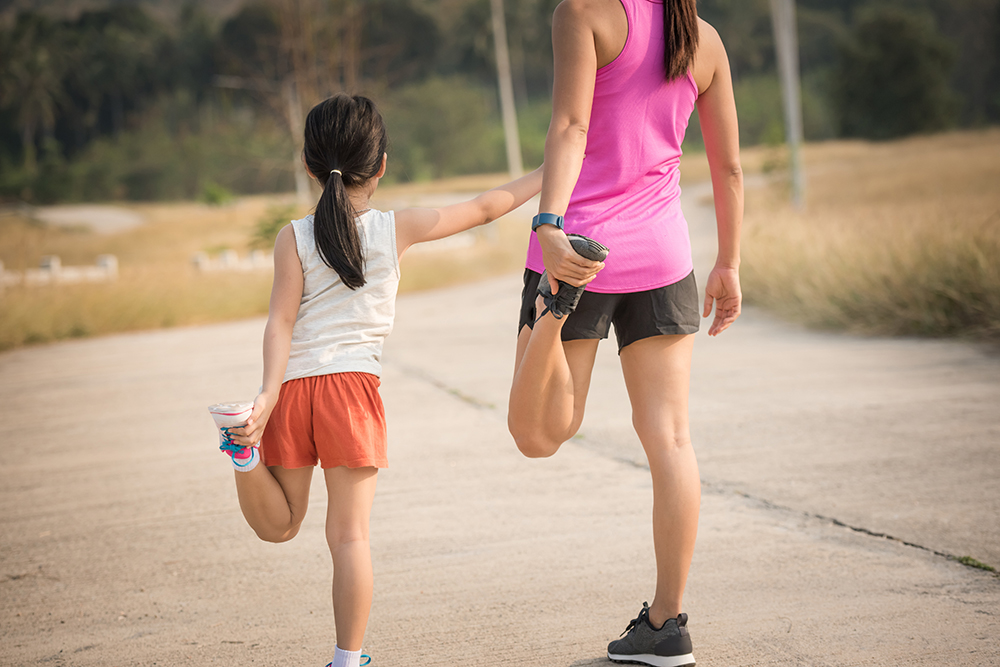 Run with kids to teach them the importance of discipline.