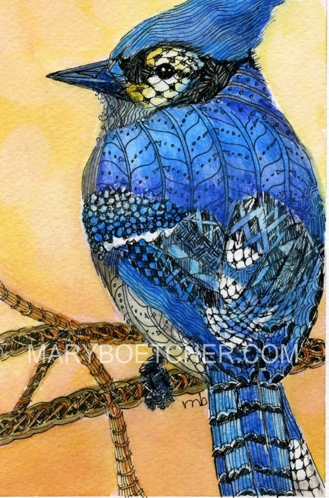 Zentangle Bluejay