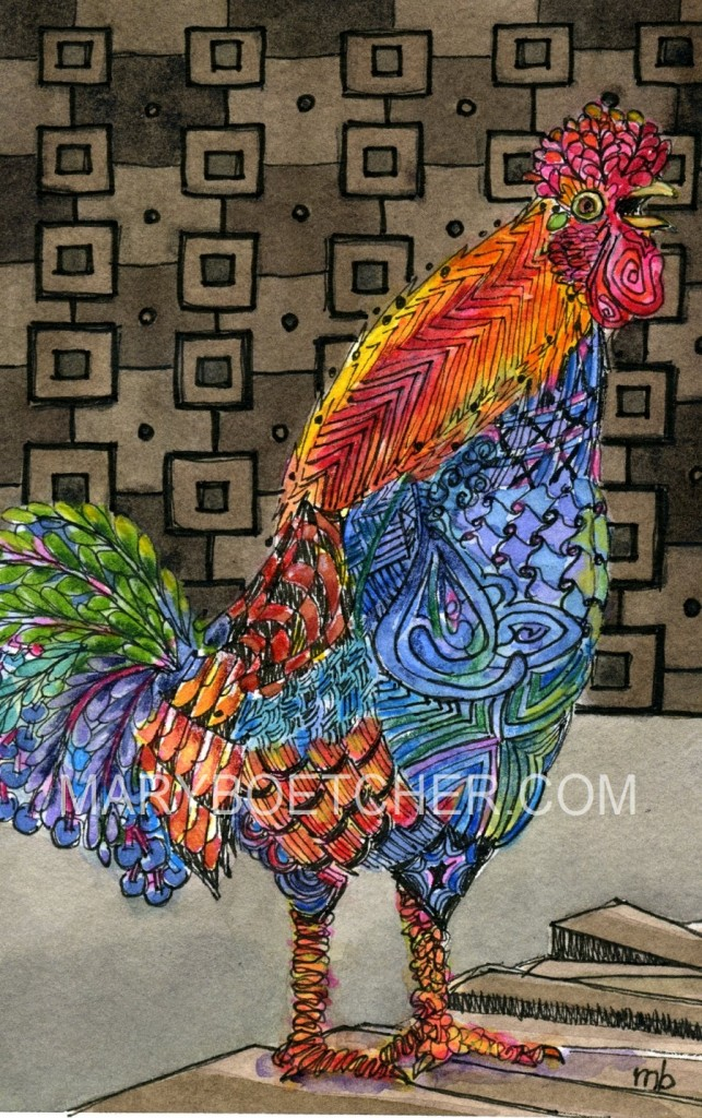 zentangle rooster
