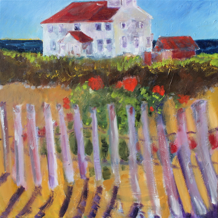 Watercolor by Richard Fox - Dancing Fence