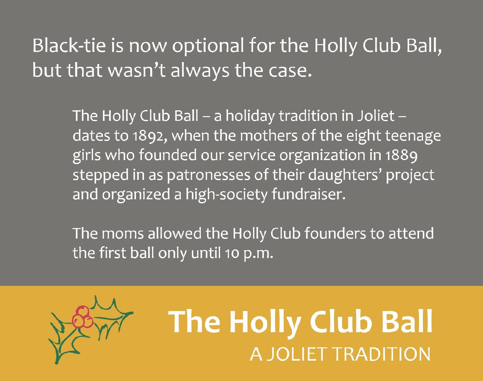 Holly Club Ball history
