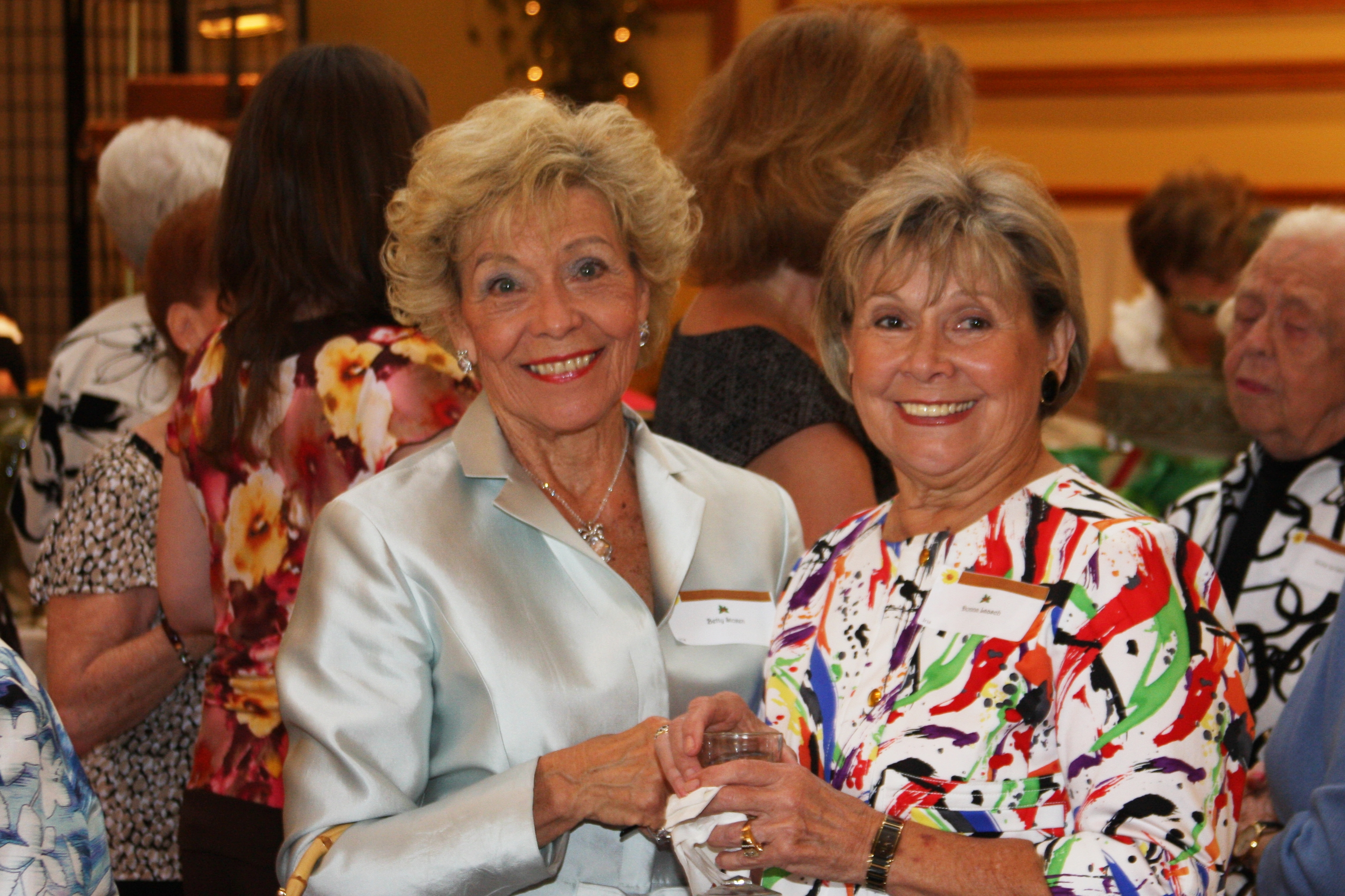 Spring Lawn Party - Betty Stoxen & Guest