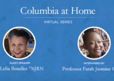 "Columbia Alumni Association: A'Lelia Bundles and Prof. Farah Jasmine Griffin Discuss Madam Walker's Legacy and ""Self Made"""