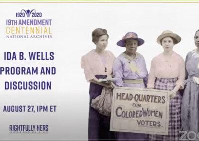 National Archives 19th Amendment: Ida B. Wells (A'Lelia & Michelle Duster) 8-27-2020
