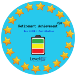 Achievements for reaching maximum limit on 401(k)