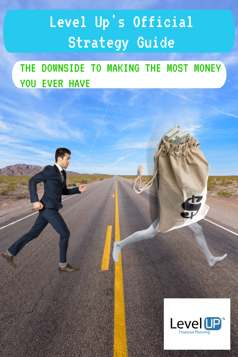 Man chasing after money