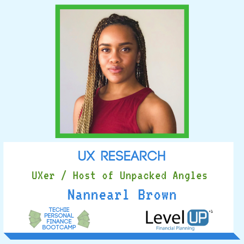 user experience researcher nannearl brown