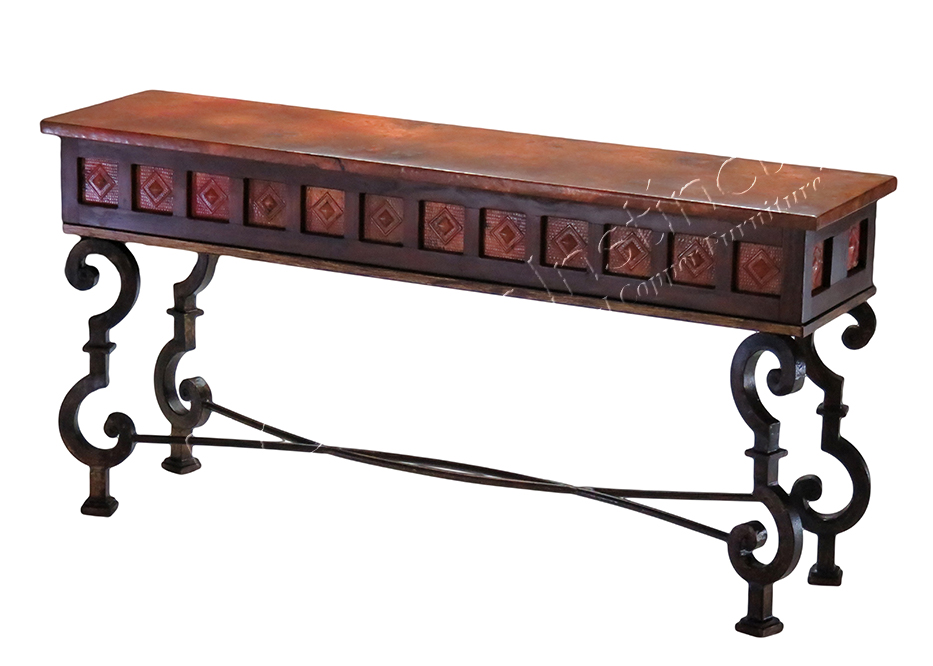 Santiago Console with Alma Copper Top
