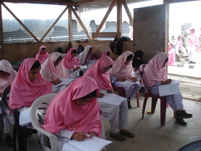 Muslim women in a classroom
