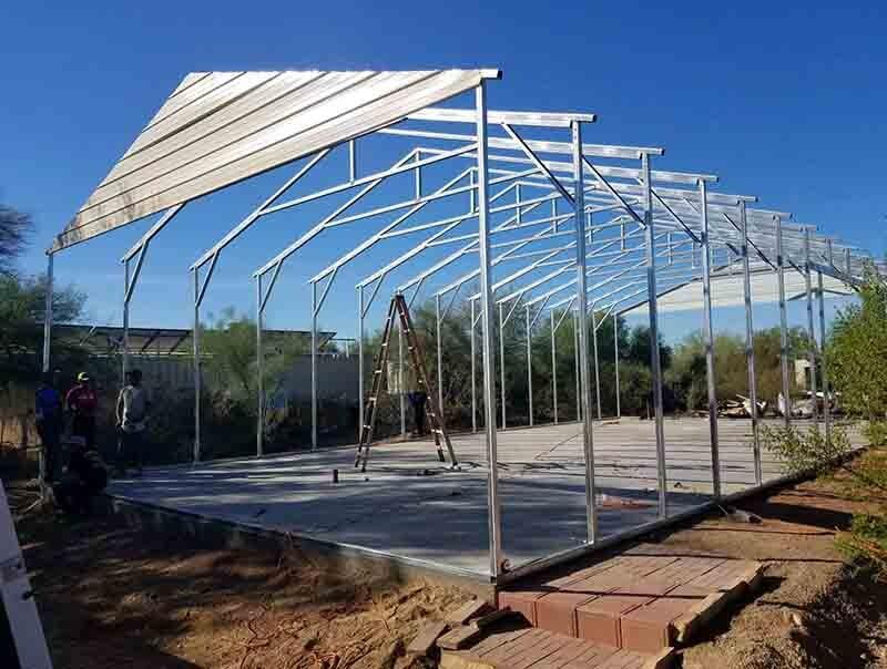 Metal Shops Amp Car Ports Craven Construction Apache
