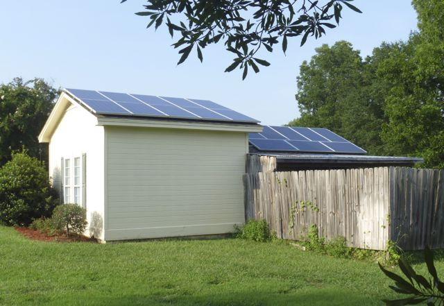 Solar electric+batteries, well and house
