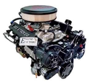 #3 Chevy 383 / 500 HP Stroker with Alternator, P/S, and A/C