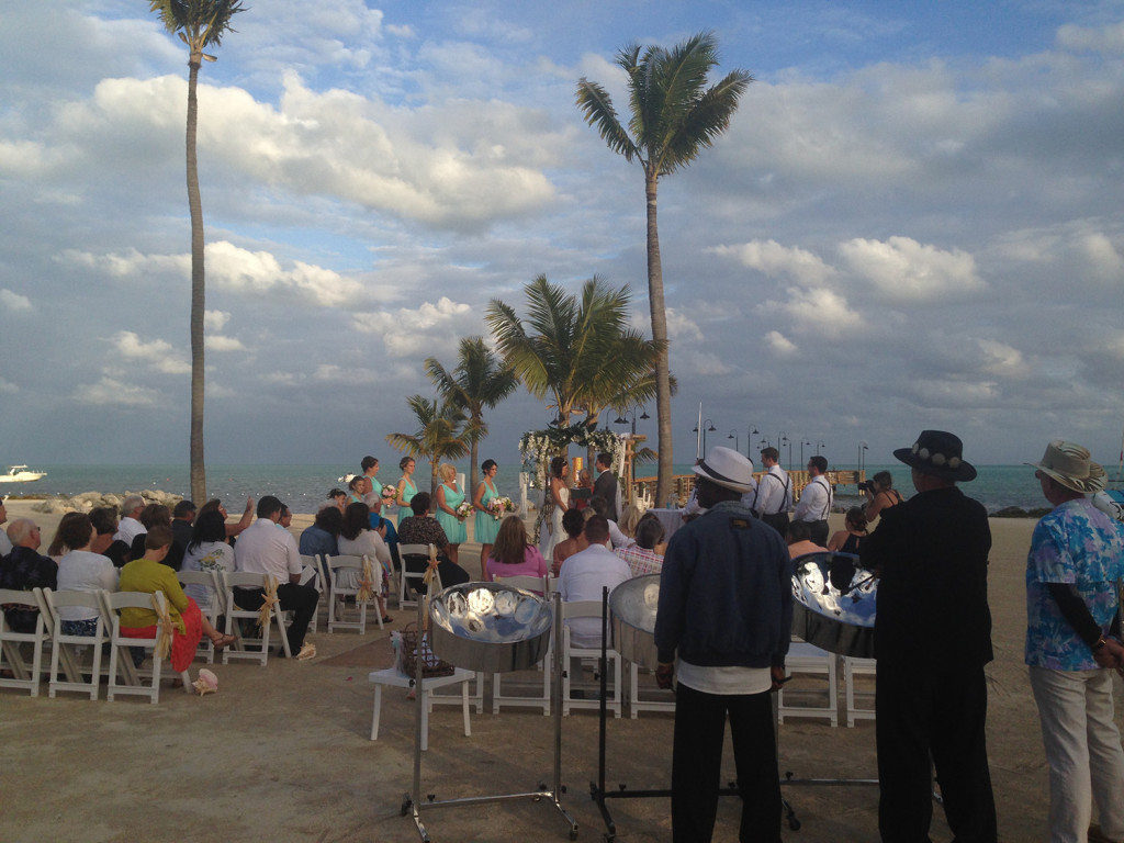 Islander Resort Wedding February 2015 Islamorada Steel Drum Band
