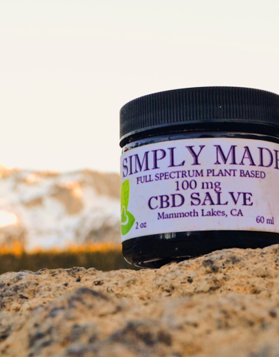 Full Spectrum Plant-based 100 mg CBD Salve.