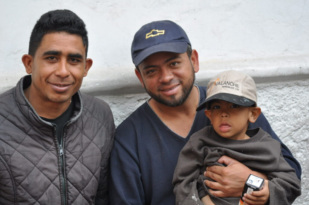 Ecuadorian father, son and friend.