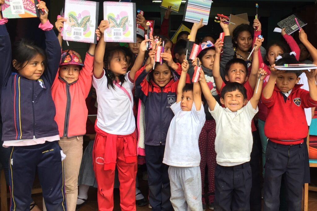 Children participating in a Hearts of Gold program in Cuenca, Ecuador.