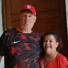 Kathleen Rodas & Lynn Smith, volunteers from USA.