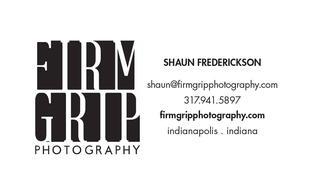 Firm Grip Photography Business card Premium Wedding Photographer