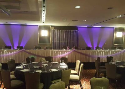Speciality Uplighting Hyatt Indianapolis Hotel Wedding Entertainment Best