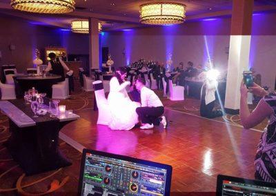 Uplighting with dance floor