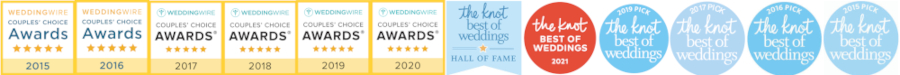 Theknot And Wedding Wire awards over the years