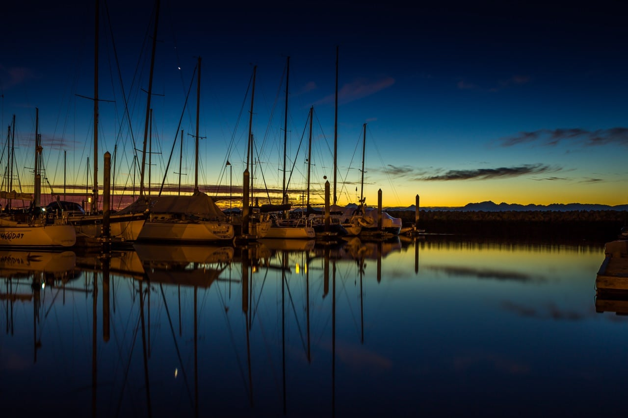 sail boats in puget sound harbor