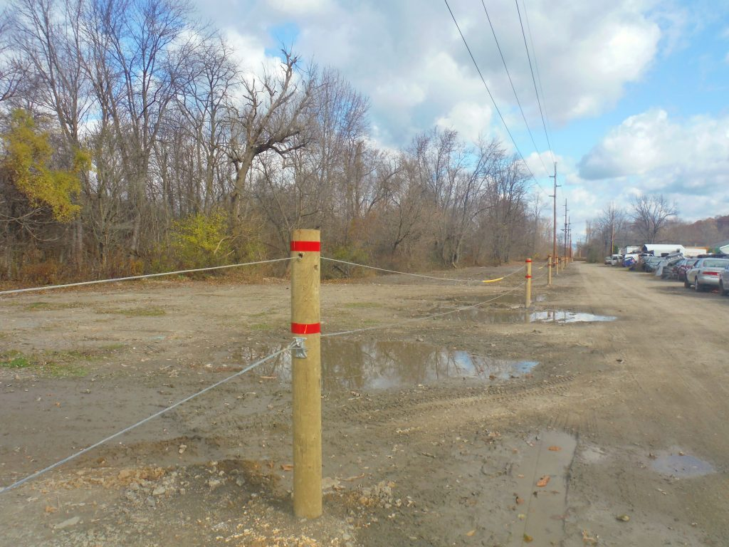 After Pennelec clean up. A new fence will prevent junk from encroaching on the banks of the J